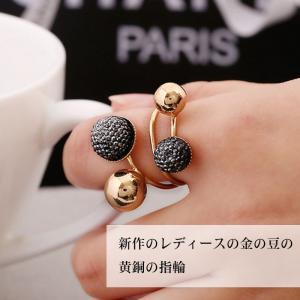 金属アレルギー対応 新作 レディース 金の豆 黄銅 指輪 アクセサリ メーカー アクセサリー 小さいプレゼント|shin-8