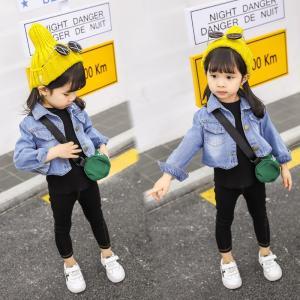 子供服 トップス キッズ デニム Gジャン ゆったり 春秋 ファッション感 学生服 ジュニア|shin-8