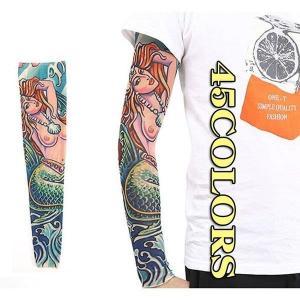 アームウォーマー タトゥー 手彫りスリーブ アーム アームカバー  腕カバー メンズ レディース 男女 ラッシュガード 吸汗速乾(二枚)2019新作|shin-8
