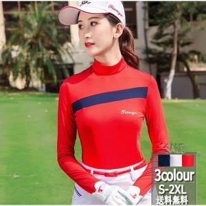 2019年夏新作 ゴルフシャツ  ゴルフウェアウエア UVカット レディース 軽量 スポーツウェア 薄手 夏物用 薄物 女性 shin-8