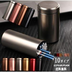 最大40本収納可能 タバコケース メンズ シガレットケース メタル  ポーチ タバコ入れ カバー ビジネス 軽量 小物 ギフト プレゼント おしゃれ|shin-8