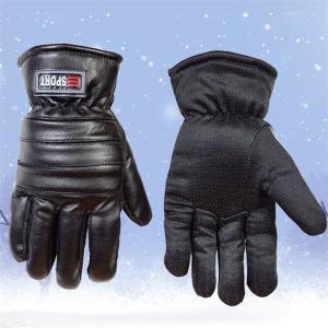 バイクグローブ 冬用 革グローブ 防寒 綿入り フルフィンガー レザーグローブ 滑り止め  厚手 防水 手袋 長指 セール品 メンズ|shin-8