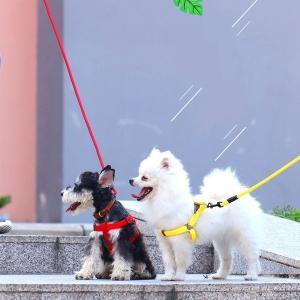 犬用ハーネス 犬用リード 小型犬用 中大型犬用 ハーネスリードセット ハーネス リード 犬の胴輪 セット 一体型 ペット用品|shin-8