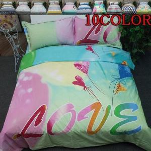 シーツセット ベッドカバー 掛け布団カバー 枕カバー 4点セット ベッドリネン 花柄 ベッド用品|shin-8