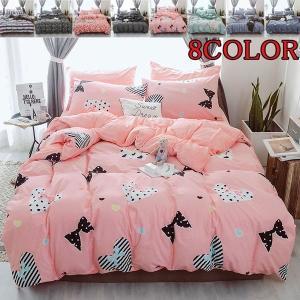 シーツセット ベッドカバー 掛け布団カバー 枕カバー 4点セット 両用ベッドリネン 花柄 ベッド用品|shin-8