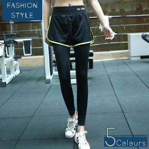 レギンス付きショートパンツ レディース フィットネス ジム ウェア トレーニングウェア スポーツウェア ヨガウェア レギンス ウォーキング ランニング パンツ|shin-8