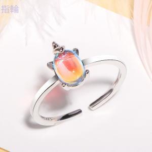 指輪 ペアリング ランキングプレゼント シンプル デザイン カップル 可愛い 小さな水晶 キラキラ 夢幻 |shin-8