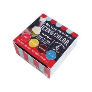 CK アイシングカラー・フードカラー(ジェル状)4色セット食用着色料・食紅