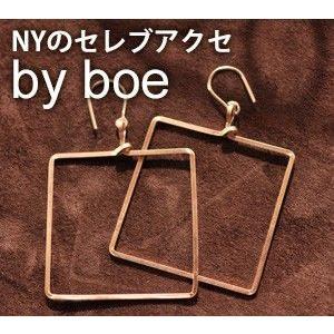 バイボー ピアス ゴールド スクエア By boe