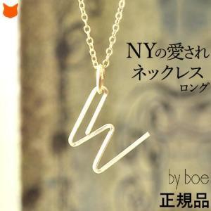 バイボー ペンダント ゴールド アルファベット ネックレス ロング By boe