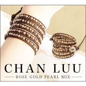 チャンルー CHAN LUU/ローズゴールド パール/ラップ...