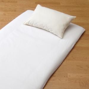 ワンタッチシーツ 丈夫なツイル織り綿100% 無地 シングル 105×215cm 敷布団用ワンタッチシーツ one touch sheets