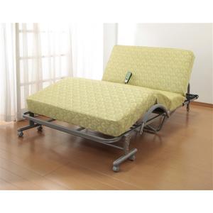 ベッド 電動リクライニング セミダブル 送料無料 高反発スプリングマットレス キャスター付き
