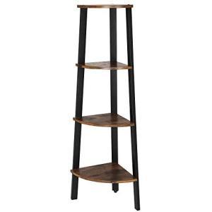 VASAGLE コーナーラック 木製 おしゃれ 簡単組立て 収納ラック シンプル 飾り棚 高さ125...