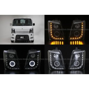 期間限定価格!【REIZ(ライツ)】「流星バージョン」 キャリイトラック(DA63T/DA65T) LEDイカリングヘッドライトユニット|shiningparts|03