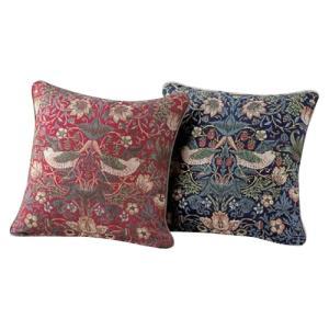 川島織物セルコン モリスデザインスタジオ いちご泥棒 背当クッションカバー 45×45cm LL1710の写真