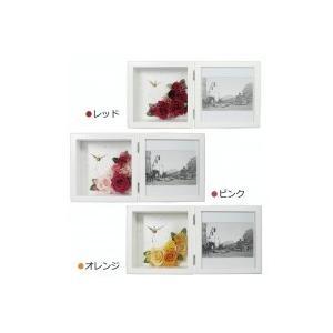 日本製 プリザーブドフラワー ピクチャーローズクロック M ホワイト|shiningstore-life