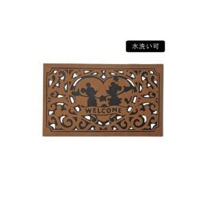 セトクラフト 玄関マット(ハート)ブラウン SD-2173-BR-400|shiningstore-life