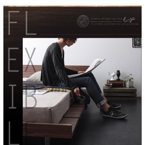 E-go 寝室 木製 和室 洋室 木目 低い イーゴ 通気性 フレーム シンプル 背面化粧 ワンルーム スチール脚 ローベッド ロータイプ かっこいい 一人暮らし|shiningstore-life|08