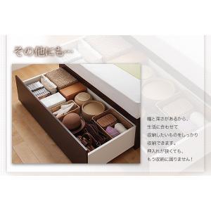 bed 木製 国産 収納 スリム ダブル ベッド ベット 棚付き 日本製 Fu-ton 大容量 引出し 宮付き BOX構造 ダブル3 組立設置 ふーとん シングル 大量収納|shiningstore-life|07