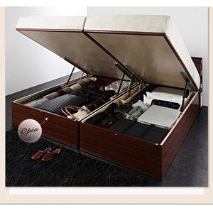 大量 Cyrus 棚付き サイズ 大容量 ガス圧 サイロス 照明付き シングル 収納ベッド 木製ベッド ベッド下収納 収納付きベッド 大型収納ベット シングルサイズ|shiningstore-life|06