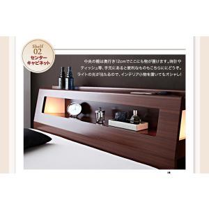 収納 大量 Cyrus サイズ ガス圧 ベッド 大容量 棚付き サイロス 照明付き 木製ベッド 跳ね上げ式 セミダブル 収納ベッド セミダブル  ベッド下収納 040107206|shiningstore-life|11