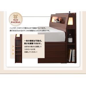 収納 大量 Cyrus サイズ ガス圧 ベッド 大容量 棚付き サイロス 照明付き 木製ベッド 跳ね上げ式 セミダブル 収納ベッド セミダブル  ベッド下収納 040107206|shiningstore-life|12