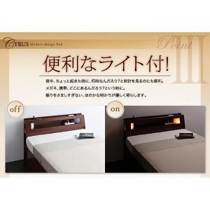 収納 大量 Cyrus サイズ ガス圧 ベッド 大容量 棚付き サイロス 照明付き 木製ベッド 跳ね上げ式 セミダブル 収納ベッド セミダブル  ベッド下収納 040107206|shiningstore-life|15