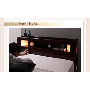 収納 大量 Cyrus サイズ ガス圧 ベッド 大容量 棚付き サイロス 照明付き 木製ベッド 跳ね上げ式 セミダブル 収納ベッド セミダブル  ベッド下収納 040107206|shiningstore-life|16