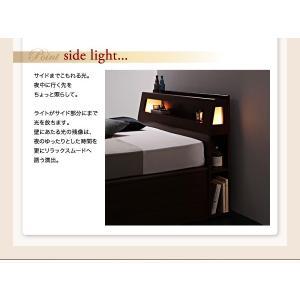 収納 大量 Cyrus サイズ ガス圧 ベッド 大容量 棚付き サイロス 照明付き 木製ベッド 跳ね上げ式 セミダブル 収納ベッド セミダブル  ベッド下収納 040107206|shiningstore-life|17