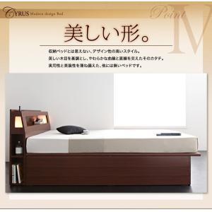 収納 大量 Cyrus サイズ ガス圧 ベッド 大容量 棚付き サイロス 照明付き 木製ベッド 跳ね上げ式 セミダブル 収納ベッド セミダブル  ベッド下収納 040107206|shiningstore-life|18