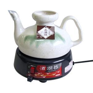 美濃焼の徳利を使用した、酒燗器です。容量は2.5合のたっぷりサイズ。本体(熱源部)と徳利は完全着脱式...