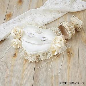 ハマナカ ウェディングキット Wedding Rose (ウェディングローズ) ローズのハートリングピロー 刺しゅう入り H431-126|shiningstore