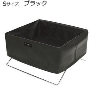 日本製 SAKI(サキ) ミニサイドワゴン 合皮 Sサイズ R-360 ブラックの写真