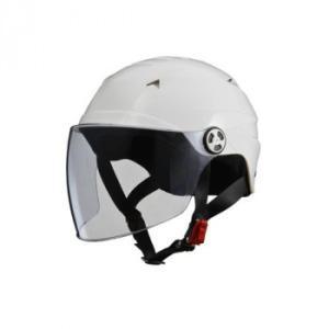 個性的でスタイリッシュな帽体形状が特徴的な開閉式シールド付きハーフヘルメット。前頭部にエアベンチレー...