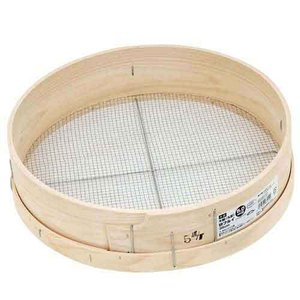 木製砂フルイ(丸型) 35cm 千吉 その他園芸道具 フルイ|shiningstore