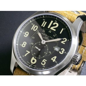 ハミルトン HAMILTON カーキ KHAKI オフィサー オート 自動巻き 腕時計 H70655...