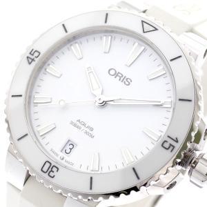 オリス ORIS 腕時計 レディース 73377314151R AQUIS 自動巻き ホワイト ホワ...
