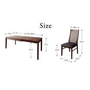 モダンデザインダイニング Silta シルタ 5点セット(テーブル+チェア4脚) W120-180|shiningstore|19