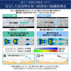ダブル 日本製 テイジン V-Lap使用 高弾力敷布団 ダブル敬老の日 体圧分散で腰にやさしい 朝の目覚めを考えた超軽量 500029211|shiningstore|06