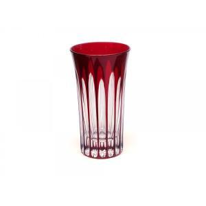 【天満切子とは】 「天満切子」は色被せガラスにU字型のカット(蒲鉾彫り)を施し、グラスの底の厚みをい...
