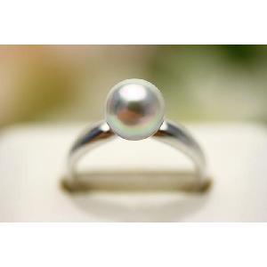真珠 指輪 アコヤパール  7.5-8.0mm ナチュラルグ...