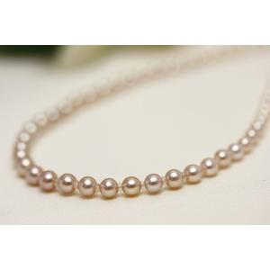 真珠 ネックレス 淡水パール ピンク/ホワイトカラー 2-4...