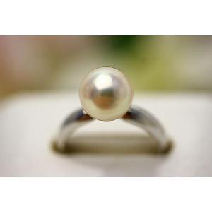 真珠 指輪 アコヤパール  8.5-9.0mm ピンクカラー...