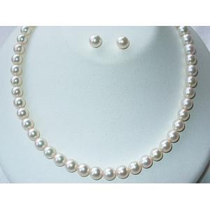 花珠 真珠 パール ネックレス セット 8ミリ オーロラ花珠真珠鑑別書|shinjukoubou|05