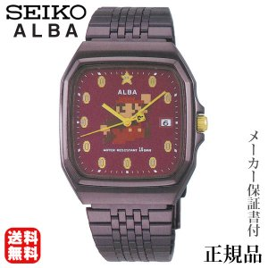 SEIKO アルバ ALBA スーパーマリオ コラボ ファミコン マリオ コイン 男女兼用 クオーツ アナログ 腕時計 正規品 1年保証書付 acck420|shinjunomori