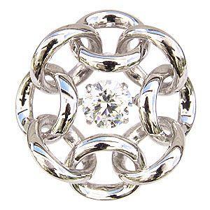 サークル K18WG ホワイトゴールド 一粒 ダイヤモンド 0.50ct ブローチ タイニーピン ダンシングストーン トゥインクルセッティング|shinjunomori