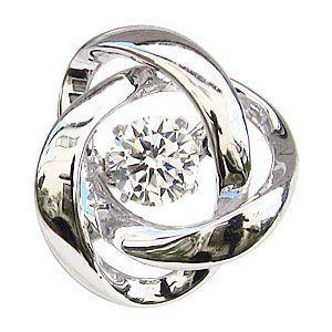 ダンシングストーン タイニーピン 一粒 ダイヤモンド 0.20ct ブローチ K18WG ホワイトゴールド トゥインクルセッティング|shinjunomori