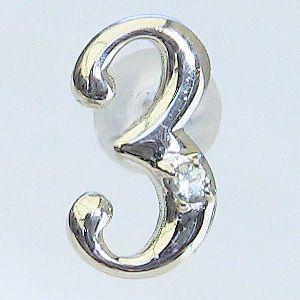 アクアマリン ラッキーナンバー3 タイニーピン ホワイトゴールド 3月誕生石 アクアマリン|shinjunomori