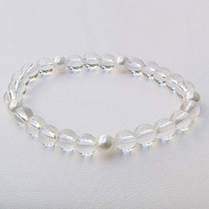 ブレスレット パール あこや真珠 白水晶 パワーストーン 冠婚葬祭|shinjunomori